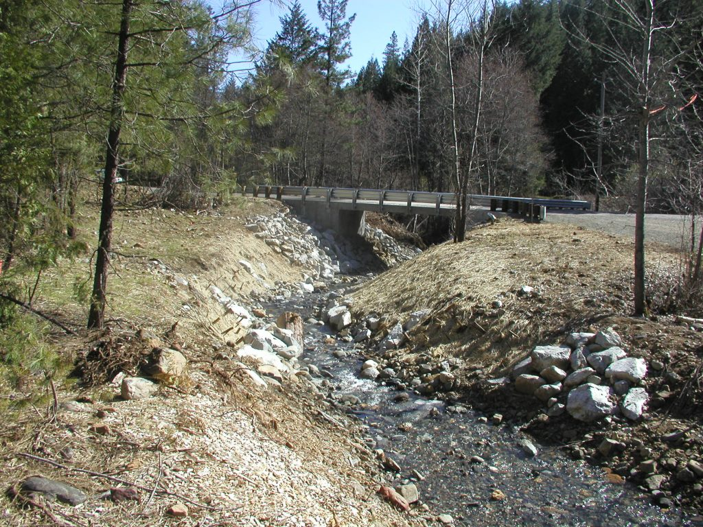 Watershed work was completed on Little Browns Creek in 2008.