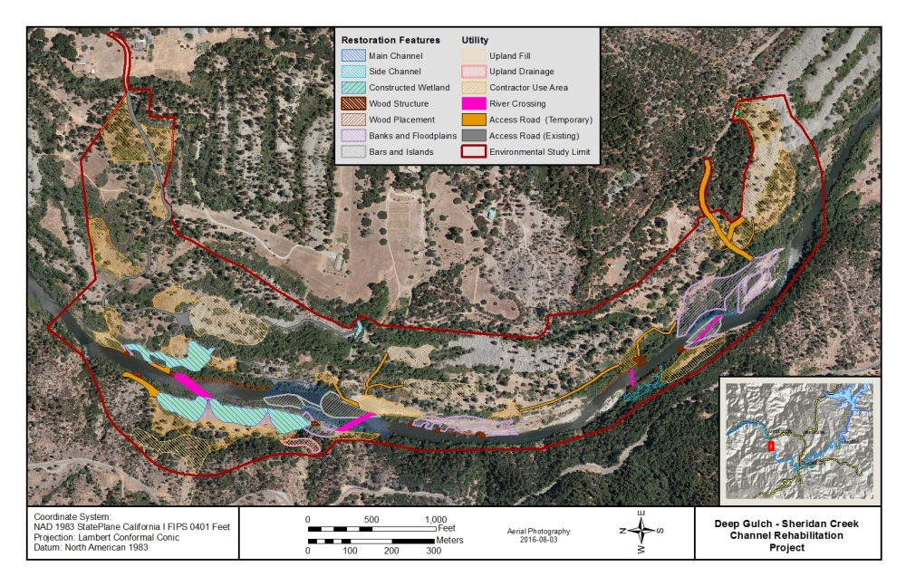 Channel Rehabilitation Design for Sheridan Creek and Deep Gulch 2017