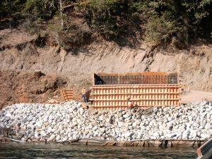 Construction of the Salt Flat bridge