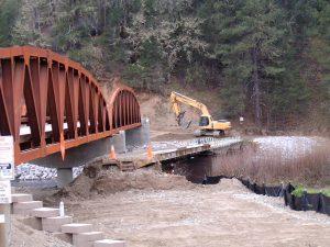 Salt Flat bridge during construction