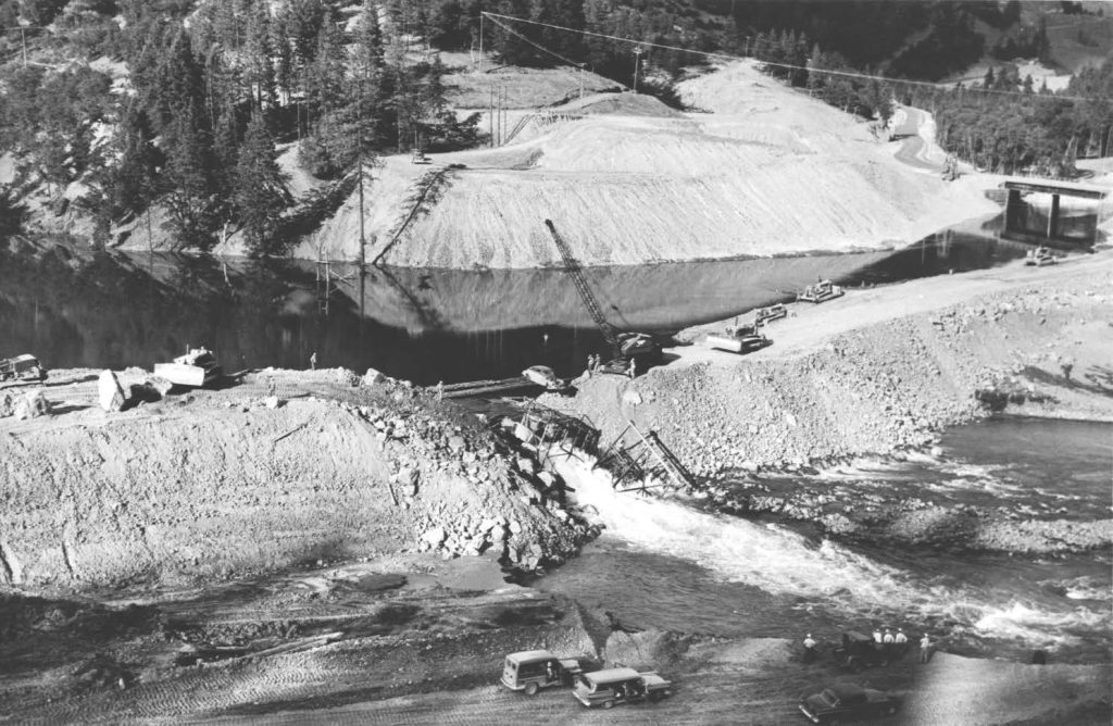 Beginning in the early 1960s Trinity River water was diverted to the Central Valley.