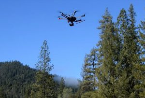Professional UAS in use to support river restoration.